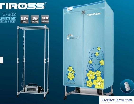 Tủ sấy quần áo Tiross TS-882 (Xanh)