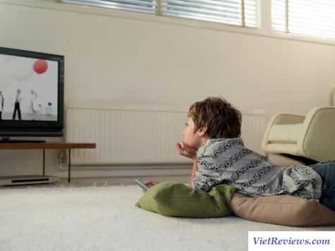 tác hại của xem tivi đối với trẻ em