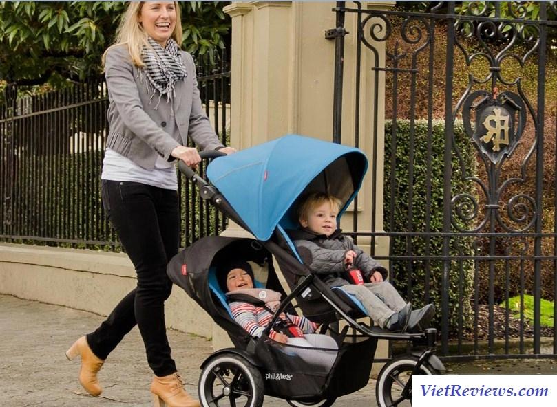 xe đẩy trẻ em đôi