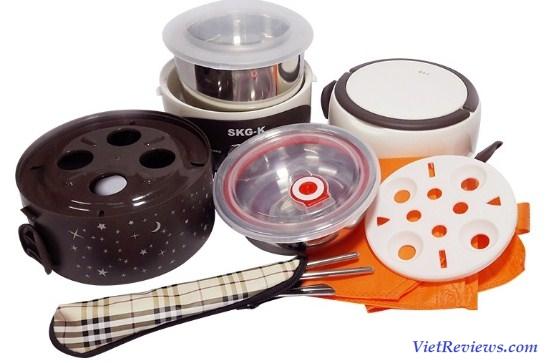 Hộp cơm hâm nóng 3 ngăn SKG-K4216 (Nâu)