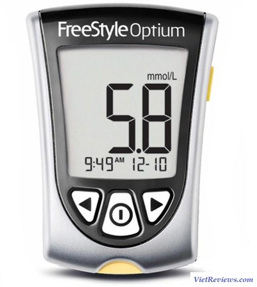 Máy đo đường huyết Abbott Freestyle Optium