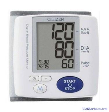 Máy đo huyết áp cổ tay tự động Citizen CH-617
